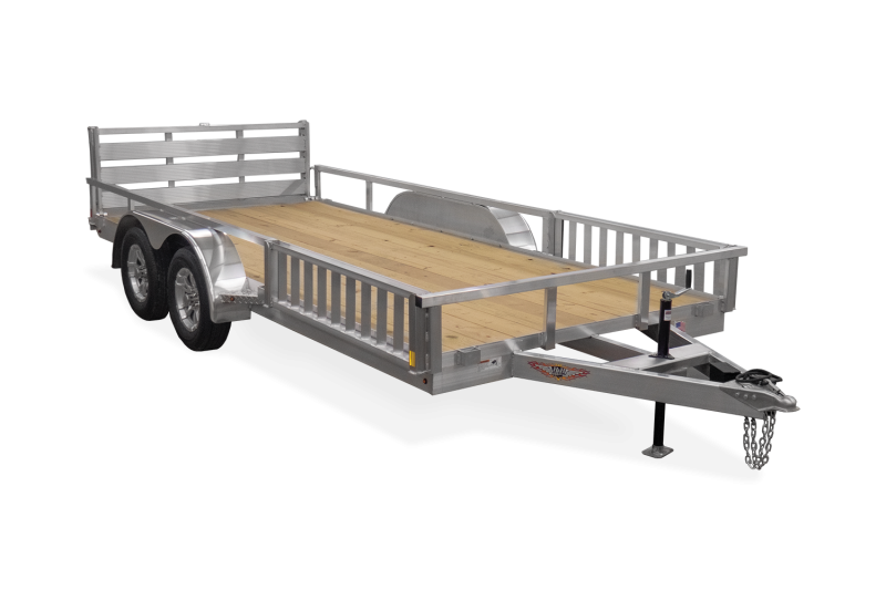 2021 H&H 7x16' TRSA Aluminum ATV Utility Landscape Trailer 7000# GVW * ATV RAMPS * ALUMINUM WHEELS * BI-FOLD GATE * SIDE LOAD RAMPS