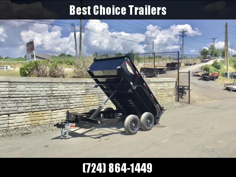 """2021 H&H Trailer 76""""x10' Dump Trailer 9990# GVW * 2' SIDES * COMBO GATE * UNDERMOUNT RAMPS * NESTLED BED FRAME *"""