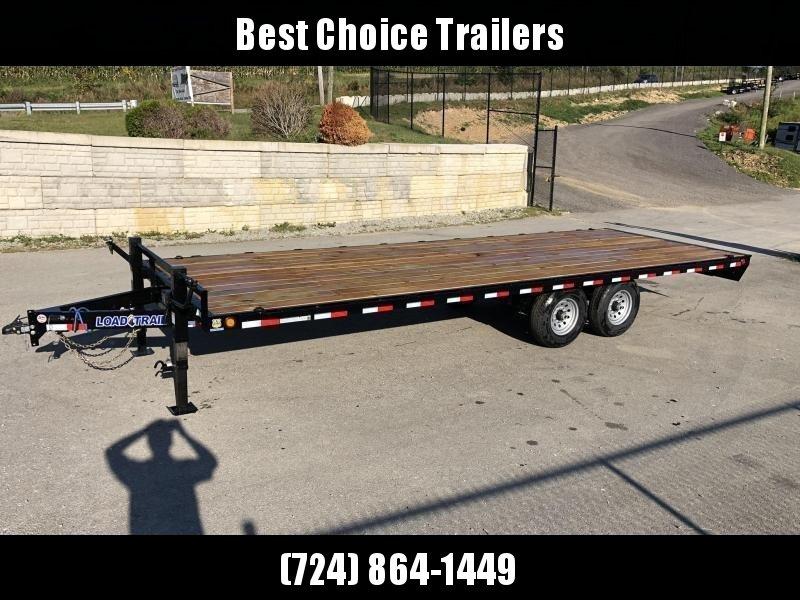 "2021 Load Trail 102x20' Deckover Flatbed Trailer * DK0220052 * SLIDE IN RAMPS * ZINC PRIMER * 6"" CHANNEL TONGUE AND FRAME * 12K JACK * DEXTER AXLES * 2-3-2 WARRANTY"