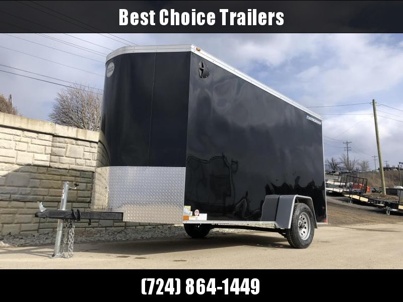 "2021 Wells Cargo 6x12' Road Force Enclosed Cargo Trailer 2990# GVW * BLACK EXTERIOR * RAMP DOOR * V-NOSE * SCREWLESS .030 EXTERIOR * 6'6"" HEIGHT * TUBE STUDS * 1 PC ROOF * 16"" O.C. C/M * ARMOR GUARD * RV DOOR * BULLET LED'S"