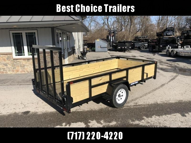 """2021 Sure-Trac 6x12' High Side Utility Landscape Trailer 2990# GVW * 24"""" 3-BOARD HIGH SIDE * 2"""" TUBE TOP RAIL * 2X2"""" TUBE GATE C/M + SPRING ASSIST + FOLD FLAT * TOOLESS GATE REMOVAL * SPARE MOUNT * PROTECTED WIRING * SET BACK JACK * TRIPLE TUBE TONGUE * D"""