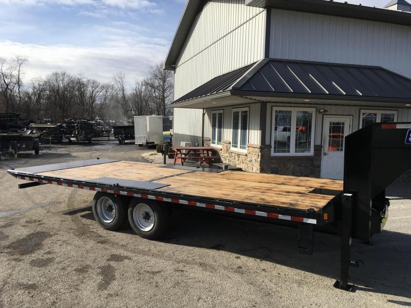 "2021 Sure-Trac 102x24' Gooseneck Power Tilt Deckover 17600# GVW * 8000# AXLES * 17.5"" 16-PLY TIRES * WINCH PLATE * OAK DECK * DUAL HYDRAULIC JACKS * 4X4X1/4"" TUBE BED RUNNERS * DUAL PISTON * 10"" I-BEAM * RUBRAIL/STAKE POCKETS/PIPE SPOOLS/8"