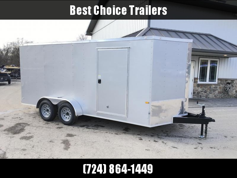 2021 Rock Solid Cargo 7x16' Enclosed Cargo Trailer 7000# GVW * WHITE EXTERIOR * RAMP DOOR * RV DOOR * 16IN O.C. C/M * TUBE STUDS * PLYWOOD WALLS AND FLOOR
