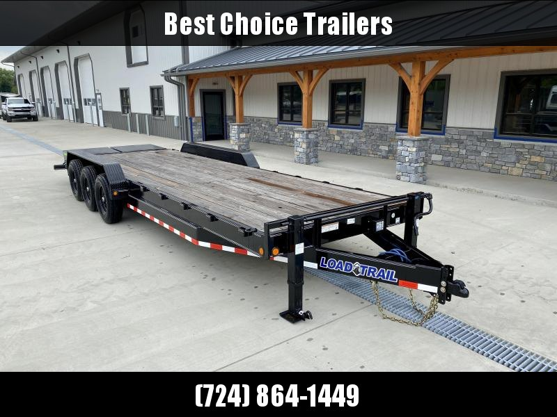 "2020 Load Trail 7x26' Equipment Trailer 21000# GVW * FULL WIDTH RAMPS * DUAL JACKS * 8"" FRAME * ADJUSTABLE COUPLER * D-RINGS/STAKE POCKETS * COLD WEATHER * DEXTERS * 2-3-2 * POWDER PRIMER"