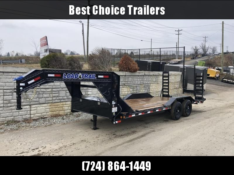 "2020 Load Trail 102x20' Gooseneck Equipment Trailer 14000# GVW * 102"" DECK * DRIVE OVER FENDERS * FULL TOOLBOX * WINCH PLATE * RUBRAIL * STAND UP RAMPS * 2-3-2 WARRANTY * PRIMER * DEXTER'S"