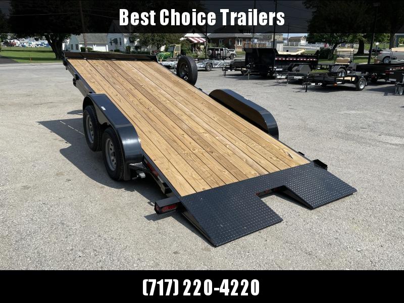 "2021 Heartland 7x18' Manual Tilt Car Hauler Trailer 7000# GVW * TILT * SPARE TIRE * KNIFEEDGE * 5"" CHANNEL FRAME"