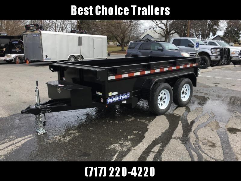 2020 Sure-Trac 5x10' Tandem Axle Dump Trailer 7000# GVW * BARN DOORS * INTEGRATED KEYWAY * SPARE MOUNT * TARP PREP * D-RINGS * DIAMOND PLATE FENDERS * POWER UP/ DOWN * TRIPLE TUBE TONGUE * BULLET LED'S * RADIALS