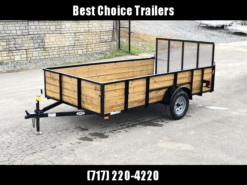 2021 AMO 78x12' High Side Utility Landscape Trailer 2990# GVW * MESH HIGH SIDE * 2' SIDES * TOOLESS GATE REMOVAL * TIE DOWNS