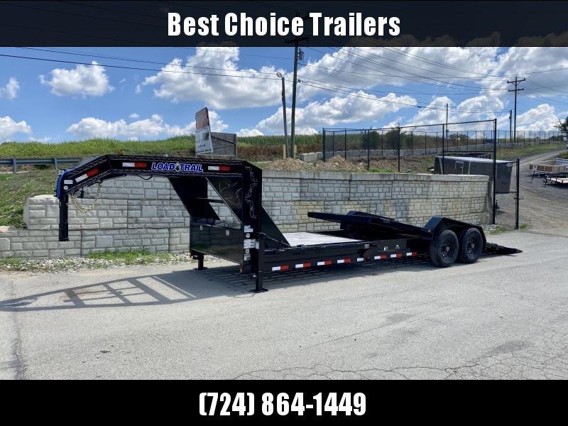 "2020 Load Trail 7x24' Gooseneck Gravity Tilt Equipment Trailer 14000# GVW * 16+8' SPLIT DECK * DEXTER TORSION AXLES * TOOLBOX * DUAL 12K JACKS * 6"" RAISED NECK * WINCH PLATE * D-RINGS/PIPE SPOOL/RUBRAIL/STAKE POCKETS"