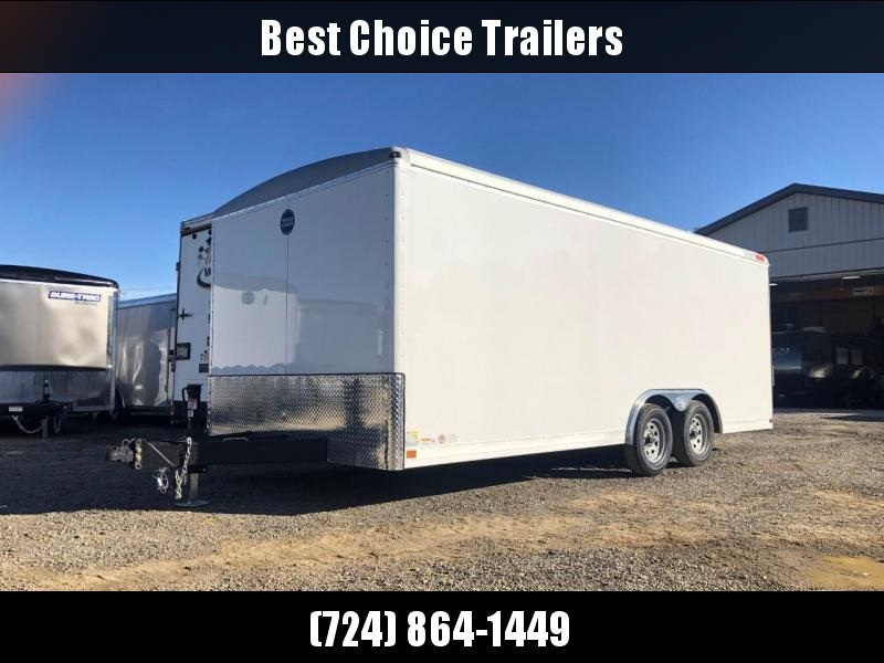 2019 Wells Cargo 8.5x20' Wagon Series Commercial Enclosed Cargo Trailer * WHITE * SCREWLESS EXTERIOR * 1 PIECE ROOF * TORSION * ADJUSTABLE COUPLER * DROP LEG JACK * ARMOR GUARD * OVERSIZE TRIM * CLEARANCE