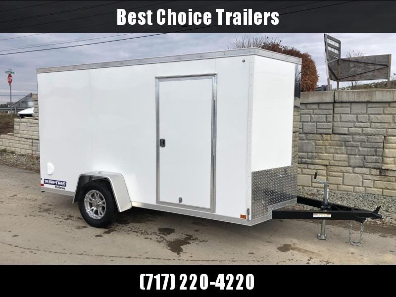 2021 Sure-Trac 6x10 STW Enclosed Cargo Trailer Ramp Door * WHITE * STW7210SA