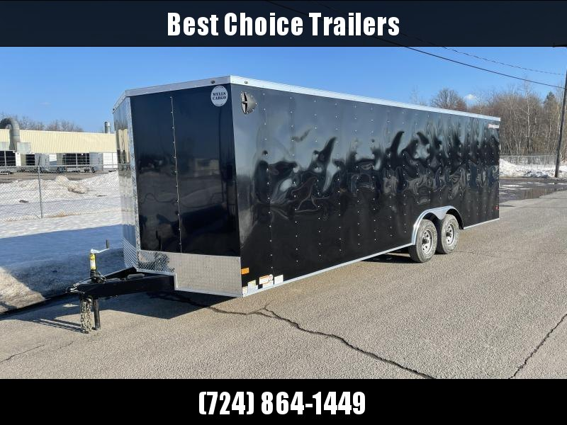 "2021 Wells Cargo 8.5x20' Fastrac DELUXE Enclosed Cargo Trailer 7000# GVW * SILVER EXTERIOR * RAMP DOOR * V-NOSE * .030 EXTERIOR * 6'6"" HEIGHT * TUBE STUDS * 3/8"" WALLS * 1 PC ROOF * 16"" O.C. WALLS * BULLET LED'S"