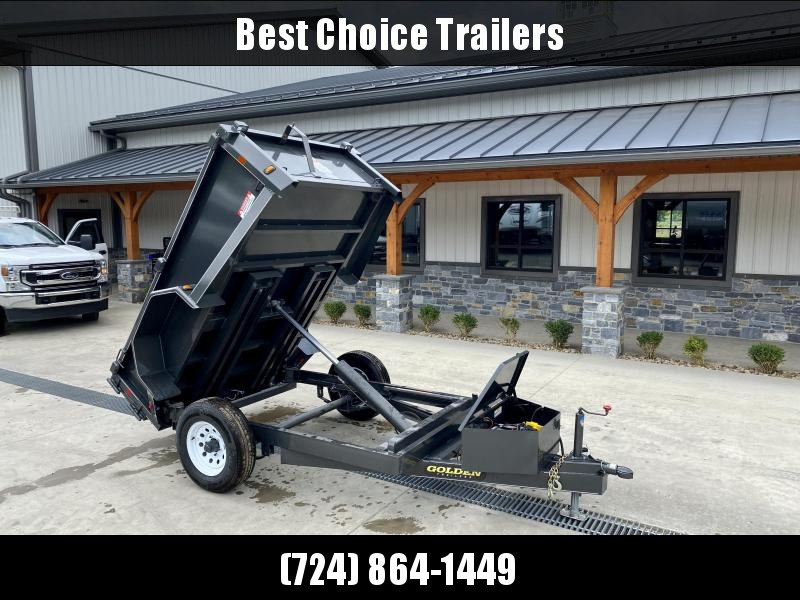 """2021 Corn Pro 5x8' Low Profile Dump Trailer 5000# GVW * UNDERMOUNT RAMPS * GREY * RUNNING BOARDS * DROP AXLES * URETHANE PAINT * OVERSIZE PISTON * 10 GAUGE FLOOR (1 PIECE) * 6"""" CHANNEL FRAME * TUBE BED FRAME * STRUCTURAL CHANNEL C/M * CLEARANCE"""