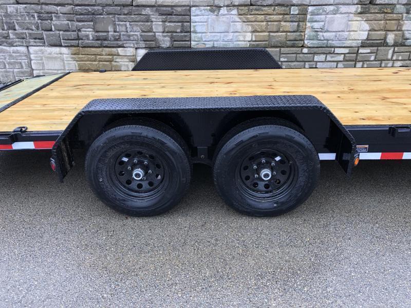 2021 Load Trail 7x20' Car Hauler Trailer 14000# GVW * CH8320072 * 7000# DEXTER AXLES * POWDER PRIMER * REMOVABLE FENDERS * 2-3-2 WARRANTY