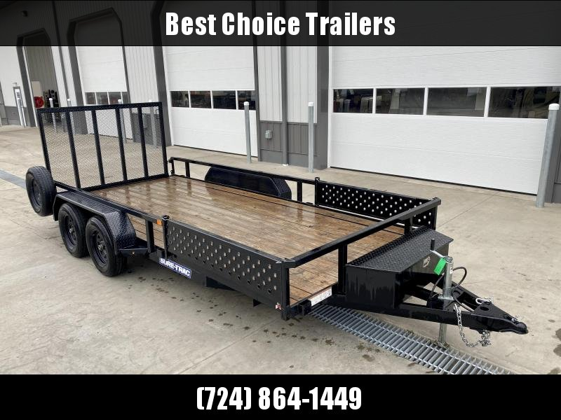 2020 Sure-Trac 7x16' Tube Top ATV Side Ramps Utility Landscape Trailer 7000# GVW * TRIPLE TUBE TONGUE * TOP TUBE RAIL/GATE * SPRING ASSIST GATE * ATV SIDE RAMPS * LED LIGHTS * SPARE TIRE * FRONT MOUNTED TOOLBOX
