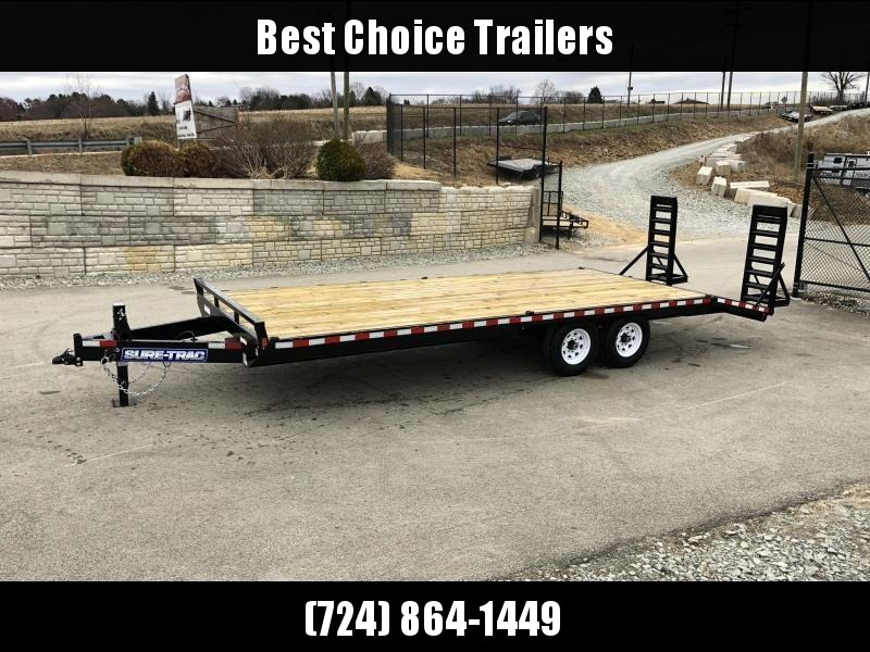 """2020 Sure-Trac 102x22 Beavertail Deckover Trailer 15000# GVW * HD 4"""" CHANNEL STAND UP DELUXE RAMPS + SPRING ASSIST * 10"""" I-BEAM MAINFRAME * CHANNEL SIDE RAIL * RUBRAIL/STAKE POCKETS/D-RINGS * ADJUSTABLE COUPLER * 12K DROP LEG JACK * LED'S"""