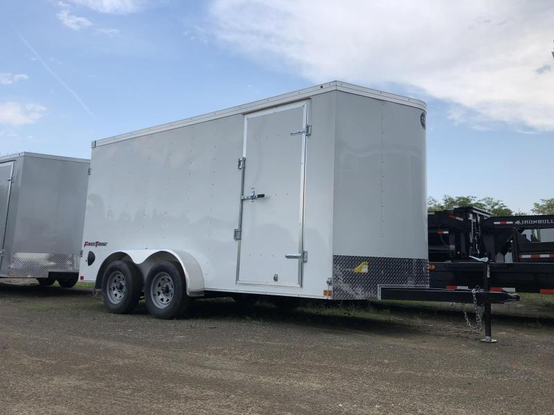 "2021 Wells Cargo 7x14' Fastrac Deluxe Enclosed Cargo Trailer 7000# GVW * WHITE EXTERIOR * BARN DOORS * V-NOSE * .030 EXTERIOR * 6'6"" HEIGHT * TUBE STUDS * 3/8"" WALLS * 1 PC ROOF * 16"" O.C. WALLS * BULLET LED'S"