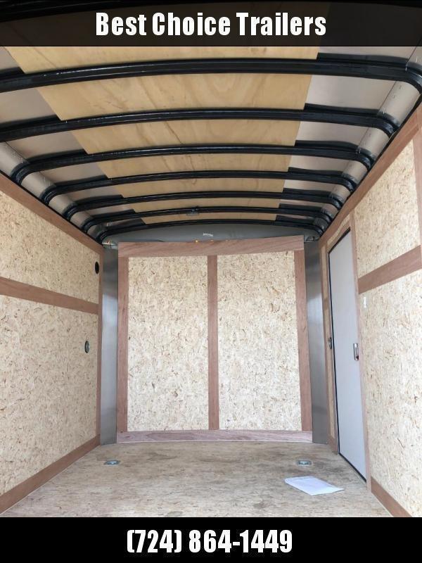 "2021 Wells Cargo 7x14' Road Force Enclosed Cargo Trailer 7000# GVW * BLACK EXTERIOR * BARN DOORS * ROUND TOP * SCREWLESS .030 EXTERIOR * 6'6"" HEIGHT * TUBE STUDS * 1 PC ROOF * 16"" O.C. WALLS/FLOOR * RV DOOR * ARMOR GUARD * BULLET LED'S"