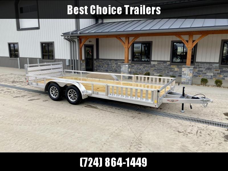 2022 H&H 7x18' TRSA Aluminum ATV Utility Landscape Trailer 7000# GVW * ATV RAMPS * ALUMINUM WHEELS * BI-FOLD GATE * SIDE LOAD RAMPS