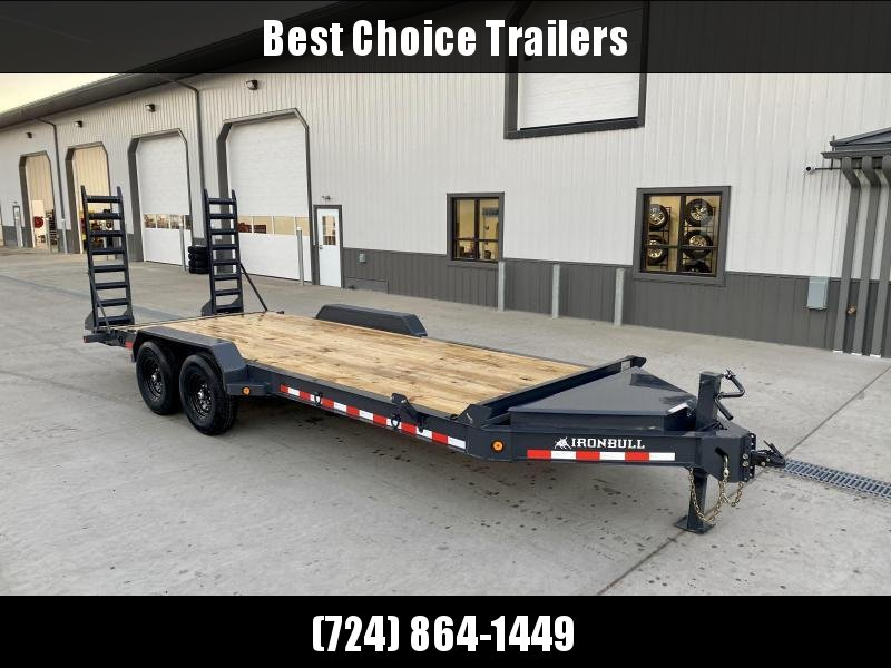 "2020 Iron Bull 7x20' Equipment Trailer 14000# GVW * 8"" I-BEAM FRAME * OVERSIZE TOOLBOX * LONGER 6' RAMPS * DEXTER AXLES * HD COUPLER"