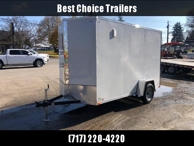 "2021 ITI Cargo 6x12' Enclosed Cargo Trailer 2990# GVW * 7' HEIGHT * WHITE EXTERIOR * .030 SEMI-SCREWLESS * 1 PC ROOF * 3/8"" PLYWOOD WALLS * 3/4"" FLOOR * 16"" STONEGUARD * HIGH GLOSS PAINTED FRAME"