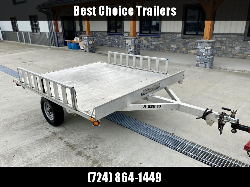 2013 Aluma 88x8.5' Aluminum Snowmobile Utility Trailer 2200# GVW