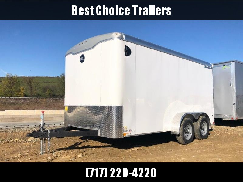 "2020 Wells Cargo 7x14' Road Force Commercial Enclosed Cargo Trailer 7000# GVW * SILVER EXTERIOR * CONTRACTOR PKG * RAMP DOOR * ROUND TOP * SCREWLESS .030 EXTERIOR * 6'6"" HEIGHT * TUBE STUDS * 1 PC ROOF * 16"" O.C. WALLS/FLOOR * RV DOOR * ARMOR GUARD * BULL"