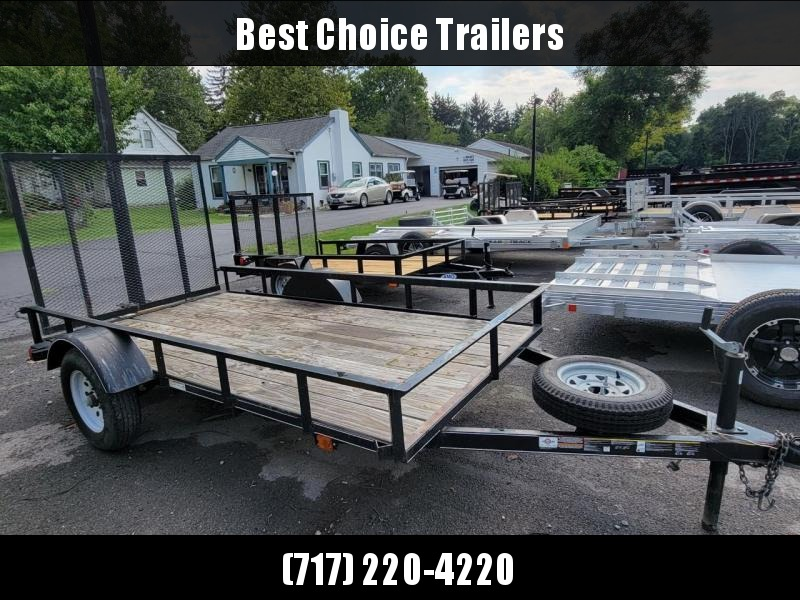 USED 2018 Carry On 5x10' Utility Trailer * GATE * SPARE TIRE * A-FRAME TONGUE * WOOD FLOOR