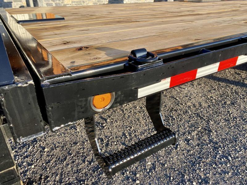 "2021 Ironbull 102x30' Gooseneck Deckover Power Tilt Trailer 14000# GVW * HYDRAULIC JACK * SCISSOR HOIST W/ DOUBLE DUAL PUMP * DEXTER AXLES * I-BEAM FRAME * RUBRAIL/STAKE POCKETS/PIPE SPOOLS/D-RINGS/BANJO EYES * 4X4X1/4"" TUBE BED RUNNERS"