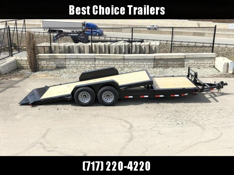 2020 Ironbull 7x16+6 Gravity Tilt Equipment Trailer 16000# * STOP VALVE * SUPER LOW LOAD ANGLE * TOOLBOX * DEXTER 8000# TORSION AXLES * SPARE TIRE