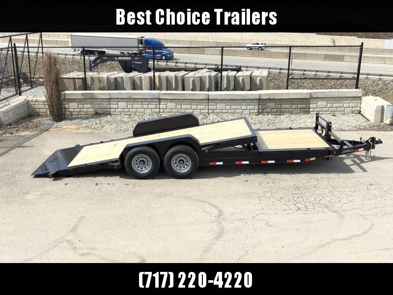 2020 Ironbull 7x16+6 Gravity Tilt Equipment Trailer 16000# * STOP VALVE * SUPER LOW LOAD ANGLE * TOOLBOX * DEXTER 8000# TORSION AXLES * SPARE TIRE