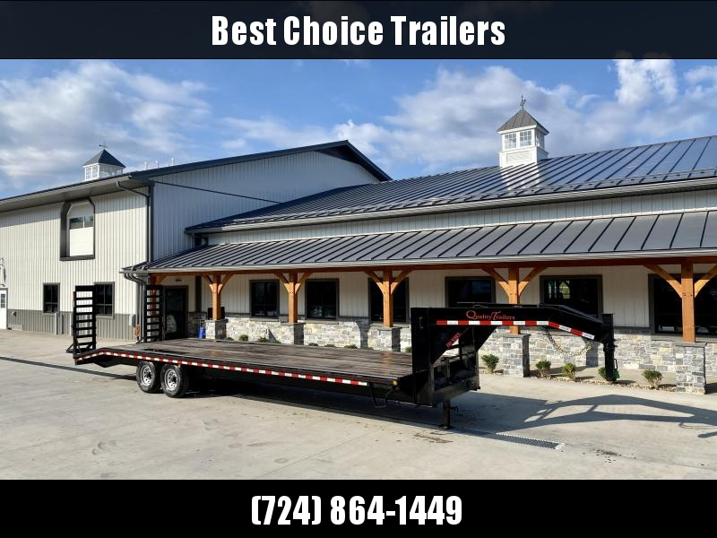 USED 2020 Quality Trailers 102x30' Deckover Trailer 17000# GVW * STAND UP RAMPS * TOOLBOX * RUBRAIL/STAKE POCKETS/E-TRACK