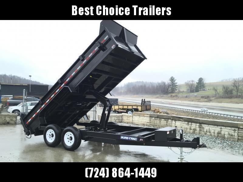 2021 Sure-Trac 7x14' LowPro HD Dump Trailer 14000# GVW * DELUXE TARP KIT * SCISSOR HOIST