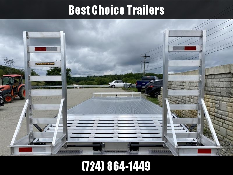 2021 H&H 102x22' Aluminum Beavertail Deckover Trailer 14000# GVW * TORSION * ALUMINUM STAND UP RAMPS W/ SPRING ASSIST * STACKED CHANNEL FRAME * CHANNEL C/M * 12K JACK * ADJUSTABLE COUPLER * SELF CLEANING ALUMINUM DOVETAIL * ALUMNIUM WHEELS * EXTRUDED FLOO