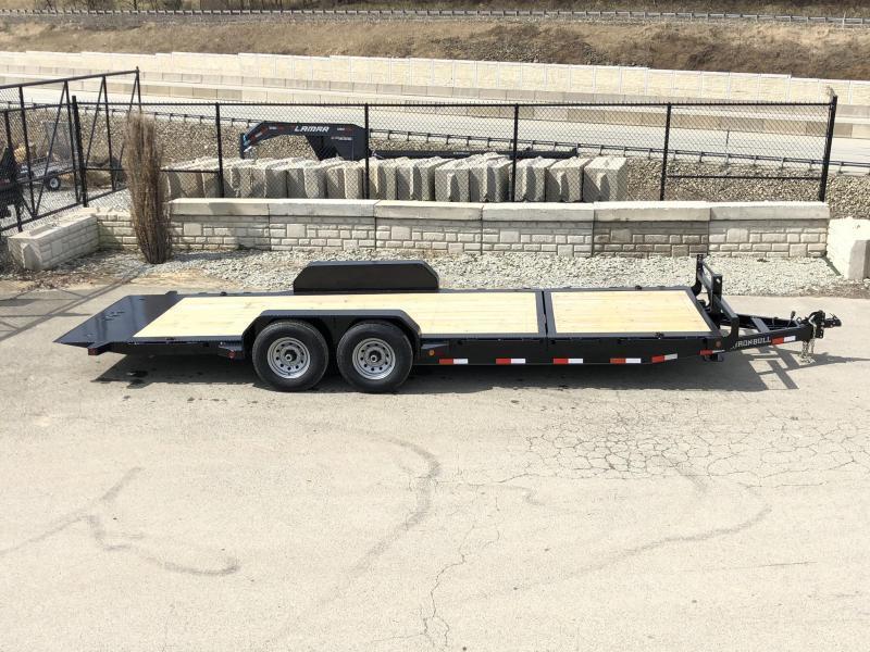 2021 Ironbull 7x16+6 Gravity Tilt Equipment Trailer 14000# TORSION * STOP VALVE * SUPER LOW LOAD ANGLE