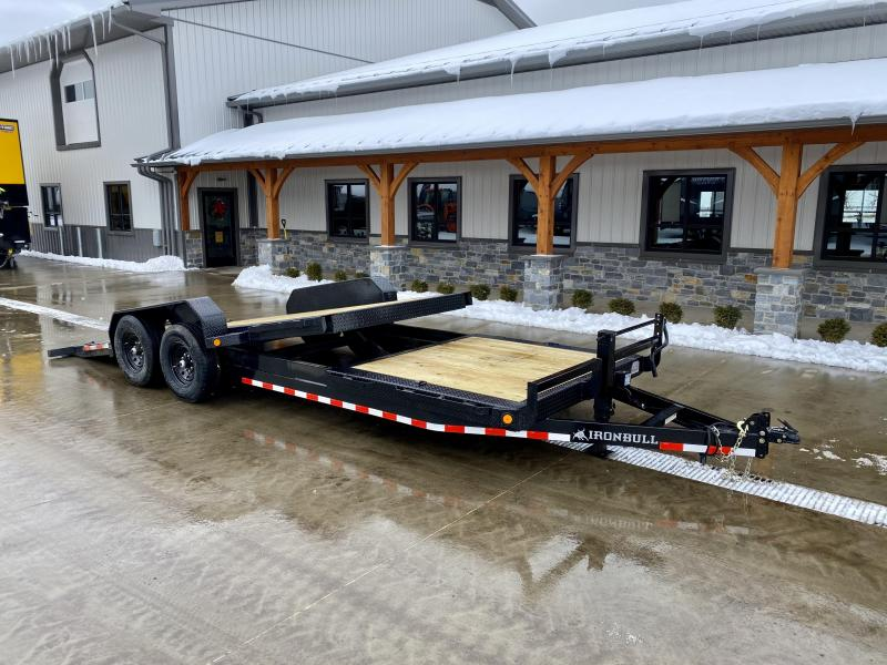 2021 Ironbull 7x16+6 Gravity Tilt Equipment Trailer 14000# TORSION * STOP VALVE * SUPER LOW LOAD ANGLE