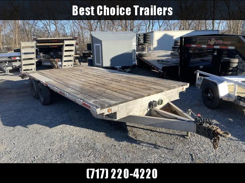 USED 2002 Worthington 102x20' Aluminum Flatbed Trailer 10000 GVW * I-BEAM FRAME * CHANNEL CROSSMEMBERS * TORSION * TRIPLE TUBE TONGUE * CHAIN TRAY