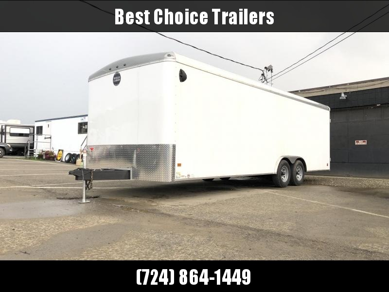 2020 Wells Cargo 8.5x24' RoadForce Enclosed Car Trailer 9990# GVW * BLACK * RAMP DOOR * ROUND TOP * SCREWLESS