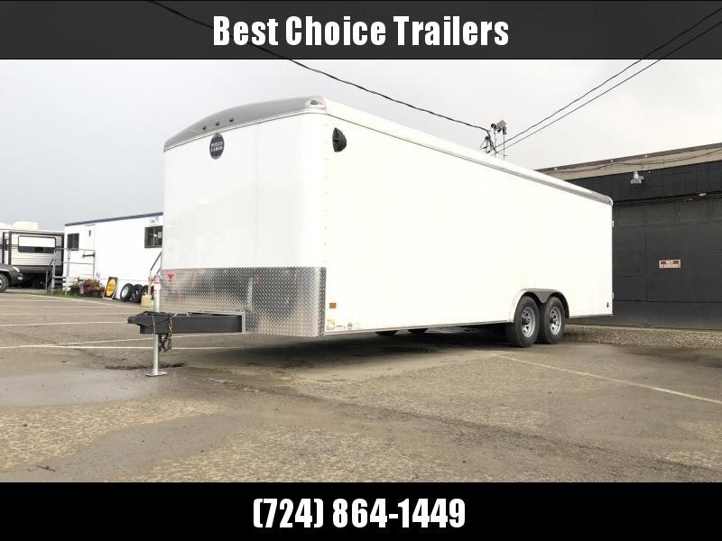 2020 Wells Cargo 8.5x24' RoadForce Enclosed Car Trailer 9990# GVW * BLACK * RAMP DOOR * ROUND TOP * SCREWLESS