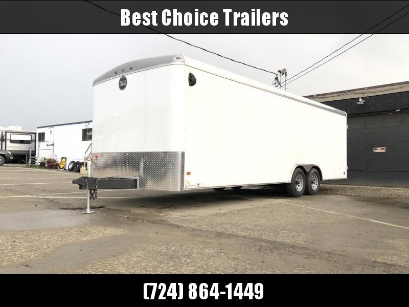 2020 Wells Cargo 8.5x24' RoadForce Enclosed Car Trailer 9990# GVW * BLACK * RAMP DOOR * ROUND TOP * SCREWLESS * CLEARANCE