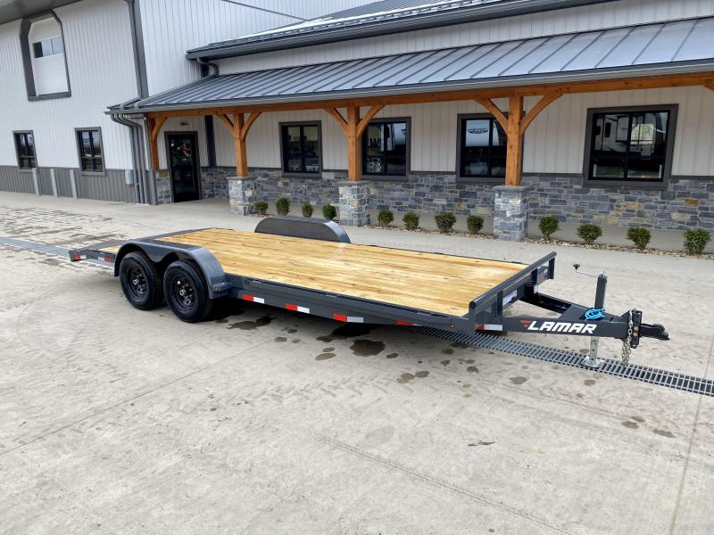 2021 Lamar 7x20' Car Hauler Trailer 9990# GVW * CHARCOAL POWDERCOATING * 7K DROP LEG JACK * CHANNEL C/M * ADJUSTABLE COUPLER * RUBRAIL