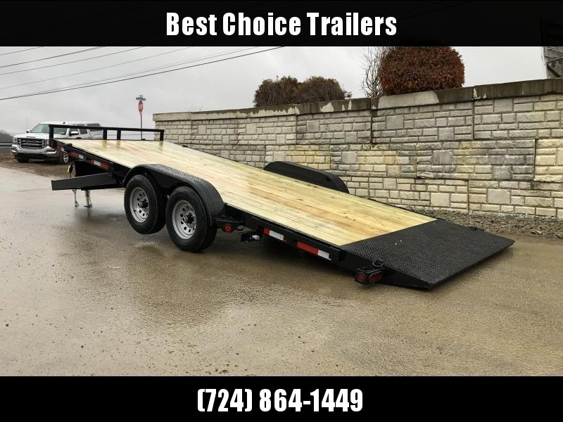 "2022 QSA 7x20' Power Tilt Equipment Trailer 9850# GVW * RUBRAIL * POWER TILT * WINCH PLATE * 6"" TONGUE AND FRAME * DROP LEG JACK * ADJUSTABLE COUPLER * REMOVABLE FENDERS * RUBRAIL"