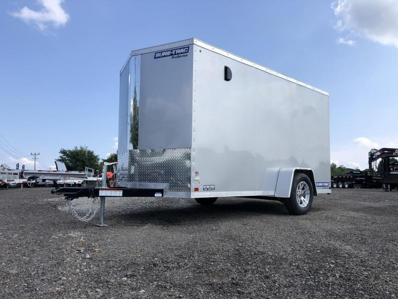 2021 Sure-Trac 6x12' STW Enclosed Cargo Trailer 2990# GVW * SILVER * RAMP DOOR