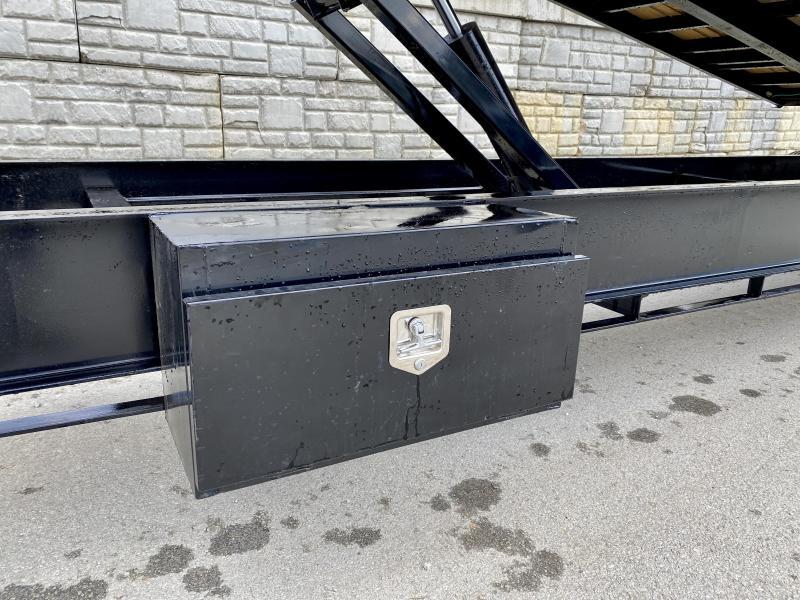 """2019 Iron Bull 102x36' Gooseneck Deckover Power Tilt Flatbed Trailer 22000# GVW * SCISSOR HOIST * 12"""" I-BEAM BEDFRAME * UNDER FRAME BRIDGE * TOOLBOX * DUAL JACKS * OIL BATH HUBS * RUBRAIL/STAKE POCKETS/PIPE SPOOL/D-RINGS * CLEARANCE"""