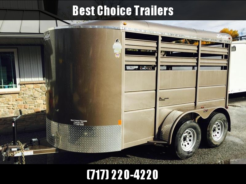 2020 Delta 12' Livestock Trailer 7000# GVW * BEIGE * DIVIDER GATE * ESCAPE DOOR * DEXTER
