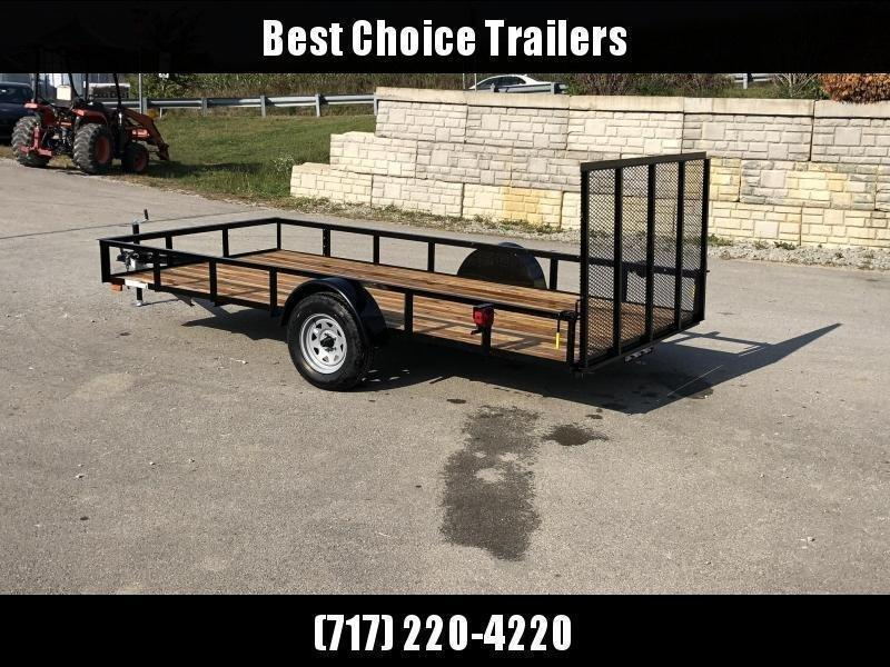 """2022 AMO 78x14' Utility Landscape Trailer 2990# GVW * 4' GATE * TOOLESS GATE REMOVAL * 3500# AXLE * 15"""" RADIAL TIRES * CLEARANCE"""
