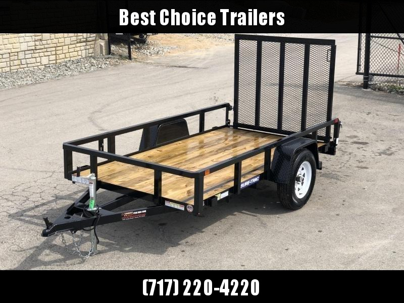 """2021 Sure-Trac 5x10' Tube Top Utility Landscape Trailer 2990# GVW * 2"""" TUBE TOP RAIL * 2X2"""" TUBE GATE C/M + SPRING ASSIST + FOLD FLAT * TOOLESS GATE REMOVAL * SPARE MOUNT * PROTECTED WIRING * SET BACK JACK * TRIPLE TUBE TONGUE * STAKE POCKETS * BULLET LED"""