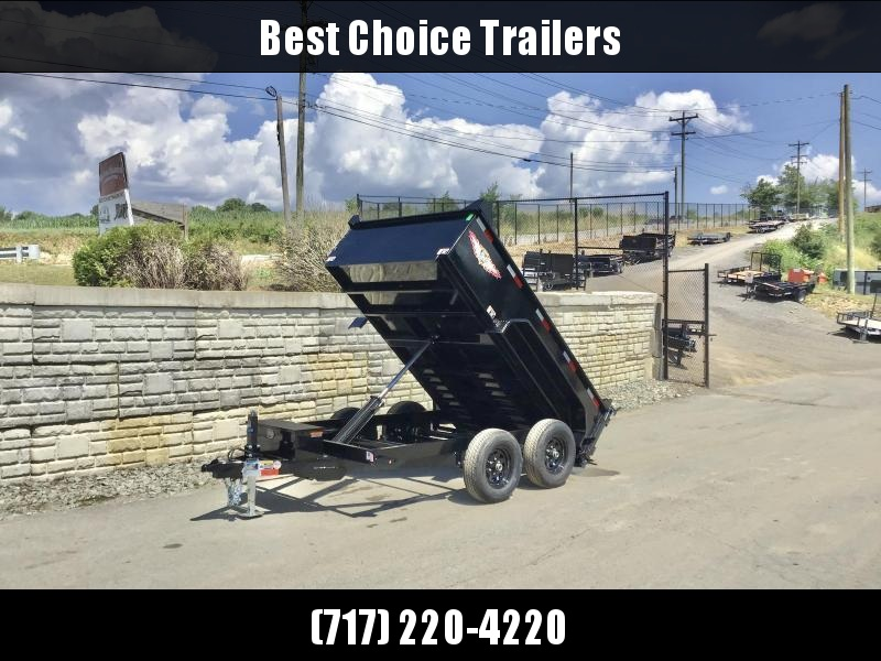 "2021 H&H Trailer 76""x10' Dump Trailer 9990# GVW * 2' SIDES * COMBO GATE * UNDERMOUNT RAMPS * NESTLED BED FRAME * CLEARANCE"