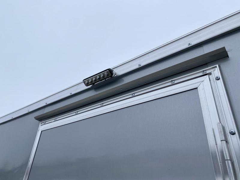 2021 Neo 7x22' NASF Aluminum Enclosed All-Sport Trailer 7000# GVW * 7' HEIGHT UTV PKG * SILVER EXTERIOR * FRONT/REAR NXP RAMP * VINYL WALLS * ALUMINUM WHEELS * SCREWLESS * 1 PC ROOF