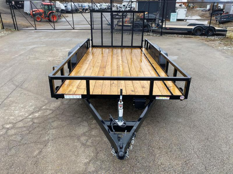 "2021 Sure-Trac 7x14' Tube Top Utility Landscape Trailer 7000# GVW * 2"" TUBE TOP RAIL * 2X2"" TUBE GATE C/M + SPRING ASSIST + FOLD FLAT * TOOLESS GATE REMOVAL * SPARE MOUNT * PROTECTED WIRING * SET BACK JACK * TRIPLE TUBE TONGUE * STAKE POCKETS * BULLET LED"